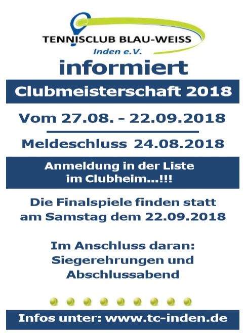 Clubmeisterschaft 2018